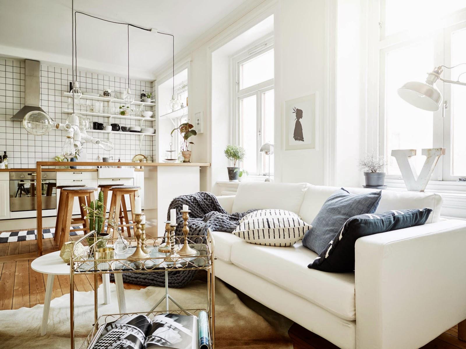 Vicky S Home Peque O Apartamento N Rdico Small Nordic Apartment ~ Decorar Apartamento Pequeño Ikea