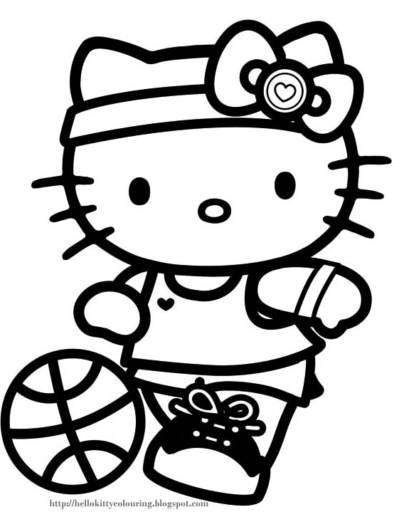 Emo Hello Kitty Coloring Book Page   www.picswe.com
