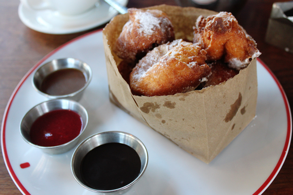 Homemade beignets at Founding Farmers in Washington, D.C.