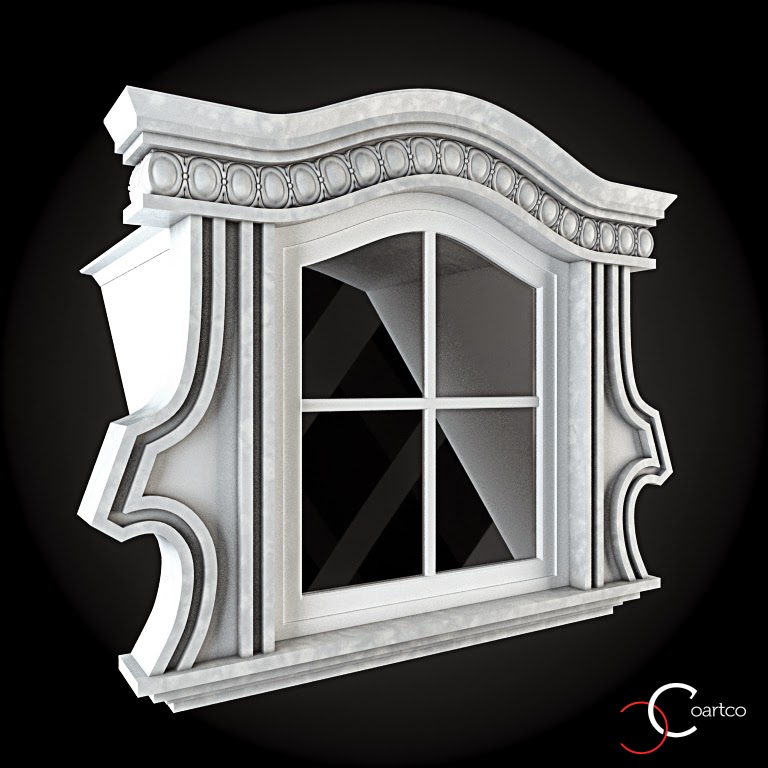 Ornamente Geamuri Exterior, fatade case cu profile decorative polistiren, profile fatada,  Model Cod: WIN-091