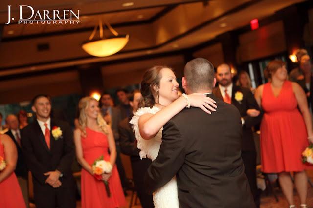 photo of the bride and grooms first dance at a Bermuda Run Counrty Club Wedding in Bermuda Run North Carolina