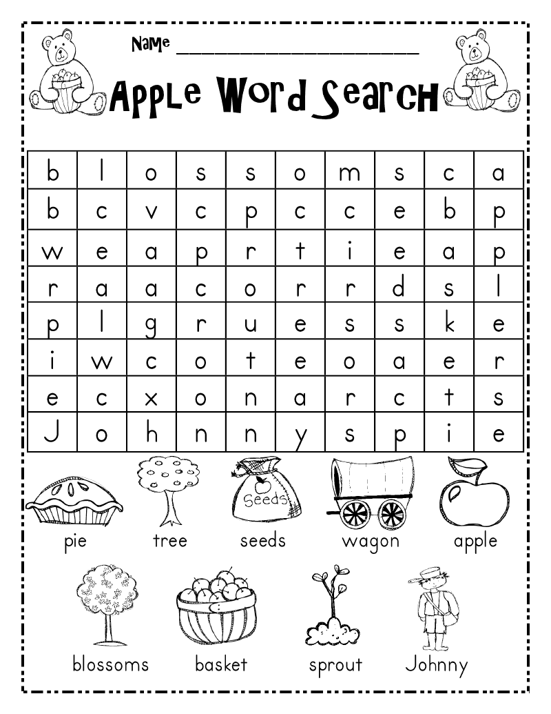 Juicy image with regard to first grade word search printable