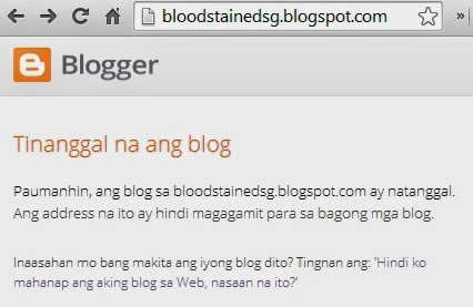 Blood Stained Singapore Blog Removed