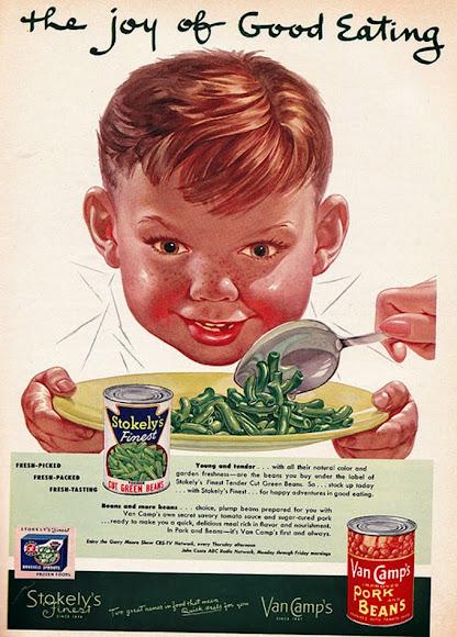 Crianças muito estranhas em anúncios vintage.