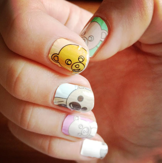 nail teddy bears