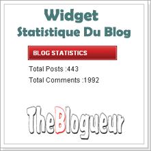widget statistics Blogger
