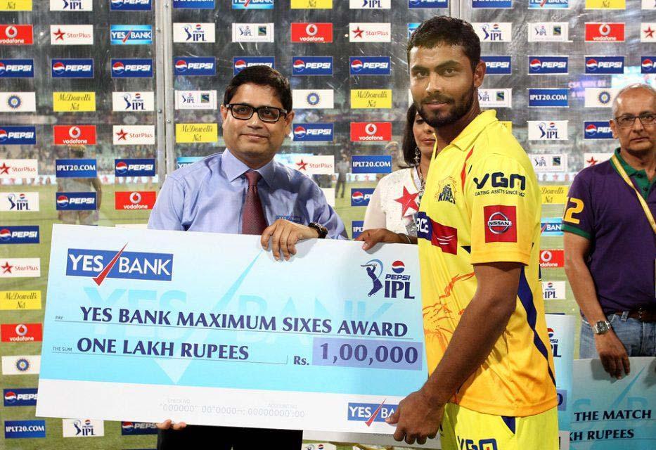 Ravindra-Jadeja-Maximum-Sixes-KKR-vs-CSK-IPL-2013