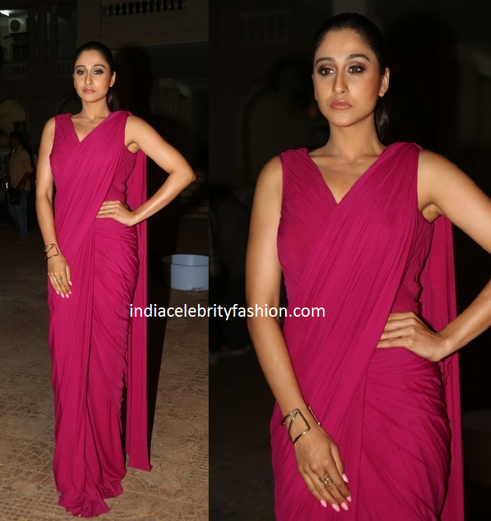 Regina Cassandra in zulekha j shariff Saree