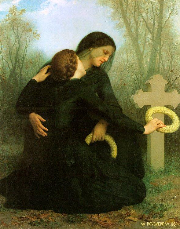 all saints day,funeral,Bouguereau