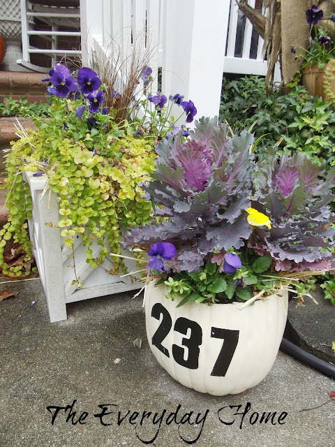 Display Your House Number on a Pumpkin at The Everyday Home