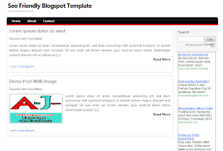 Simple SEO Friendly Blogger Template