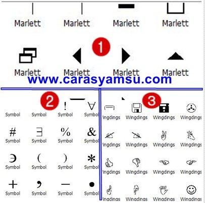 Cara Menambahkan Berbagai Jenis Simbol  di Foto/Gambar dengan Photoscape