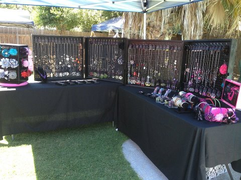 Fancy Five Jewelry My Display At An Outdoor Event