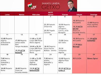 Agenda campaña EAJ-PNV Getxo