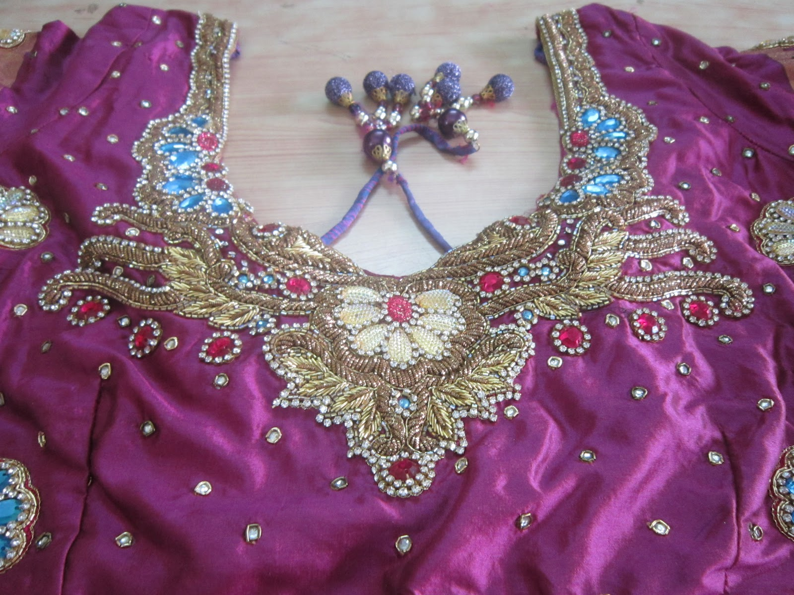 Designer blouses new embroidery designs on