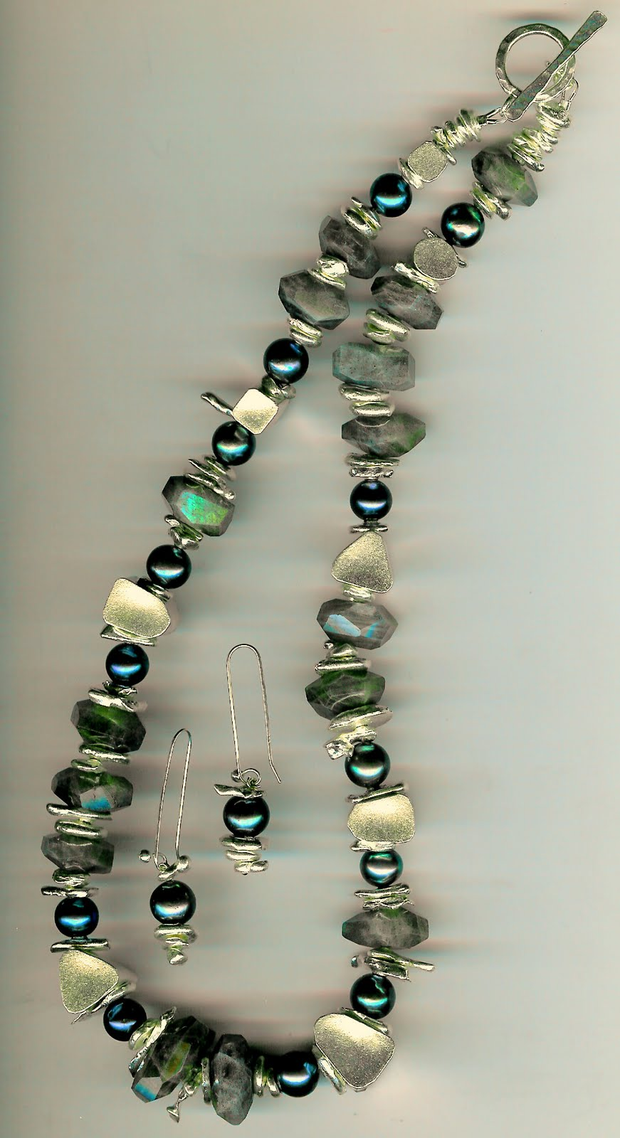 220. Labradorite, Akoya Pearls and Thai Sterling Silver