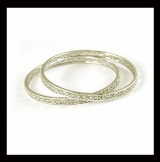 White Gold Bangles Design