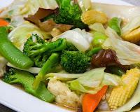 Stir Fry de Legumes com Gengibre (vegana)
