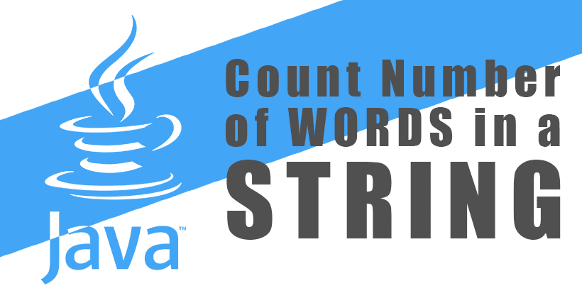 Java Program to Count Number of Words in a String