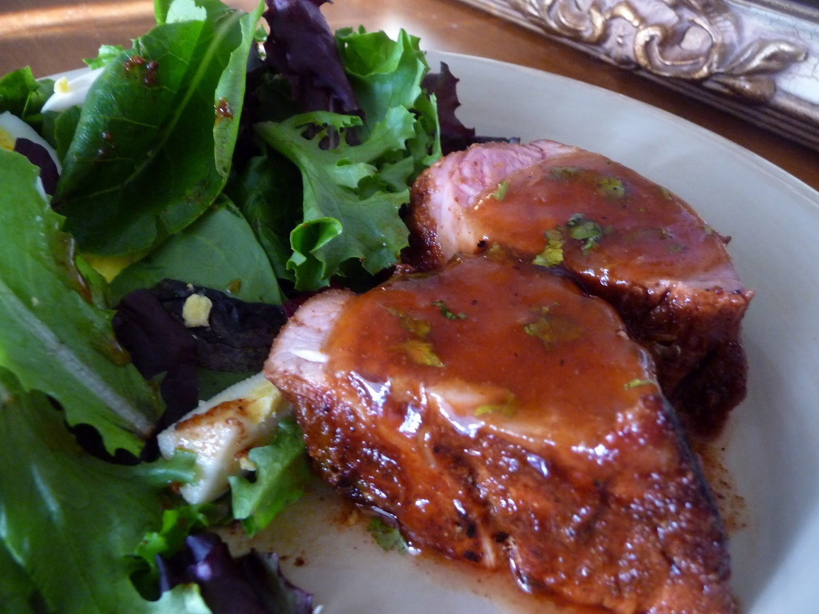 Chili Rubbed Pork Tenderloin with Apricot Ginger Glaze ...