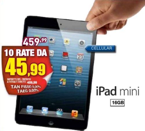 Nel volantino Euronics della Sicilia molti prodotti Apple tra cui l'iPad Mini a rate senza interessi