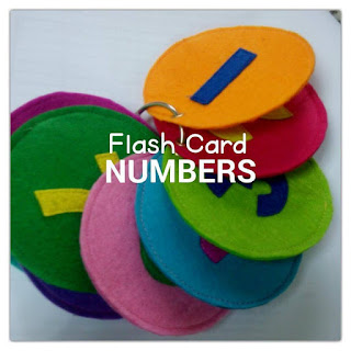 felt flash card
