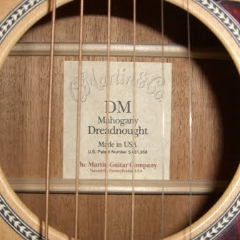 Rex and the Bass: Martin DM Acoustic Guitar