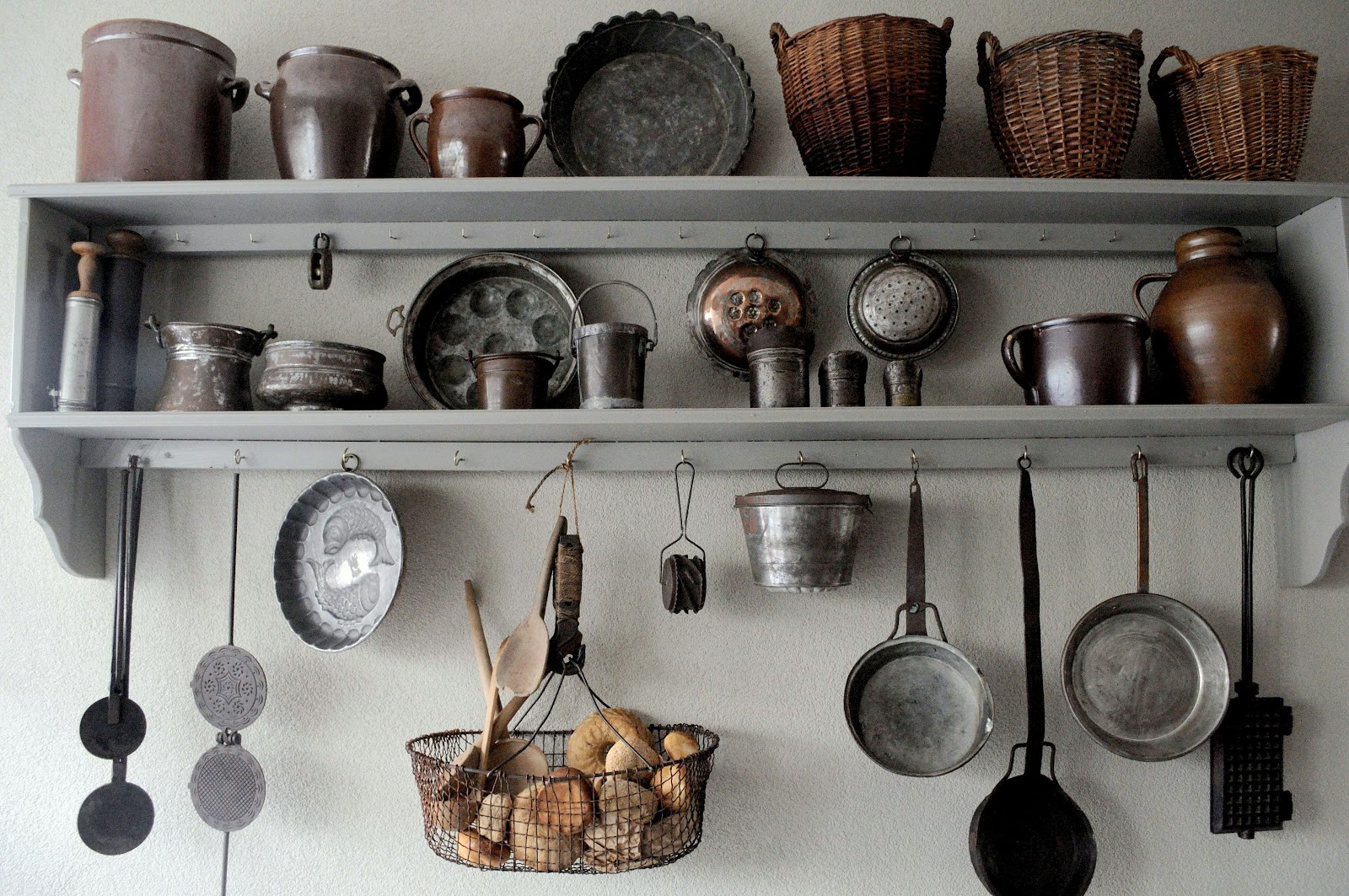 Keukenrekken : Natuurlijk ontbreken de manden en