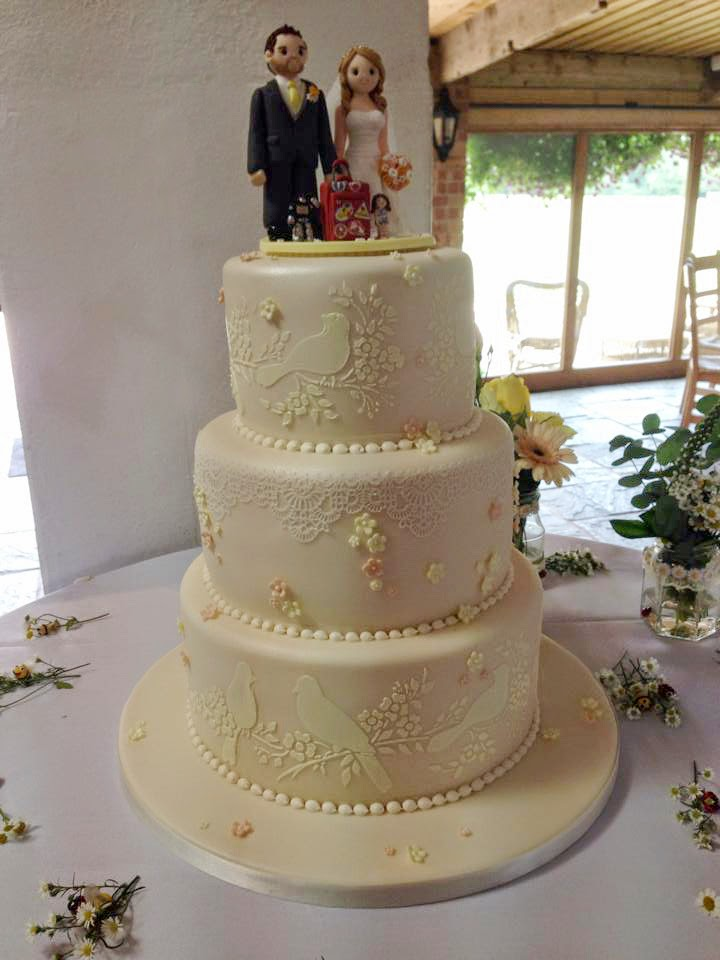 John and Carly's wedding cake