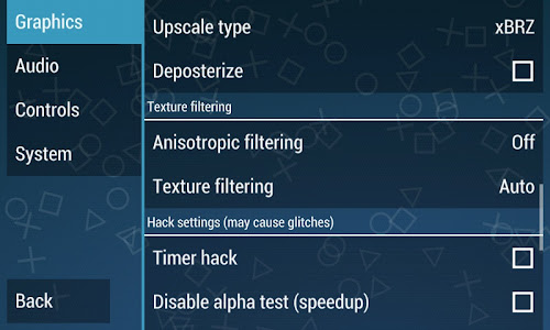 Setting emulator PPSSPP android