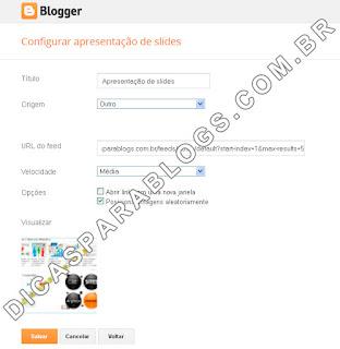 Configurar Apresentações de Slides no Blogger