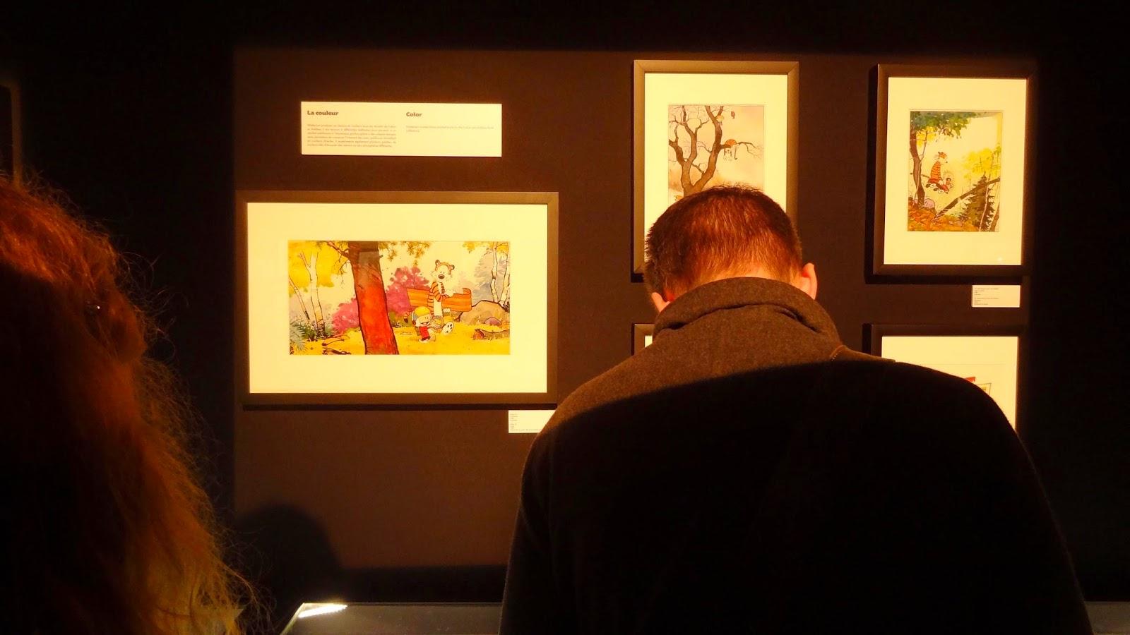 Expo Watterson Calvin et Hobbes, Angoulême FIBD 2015, dessin couleur
