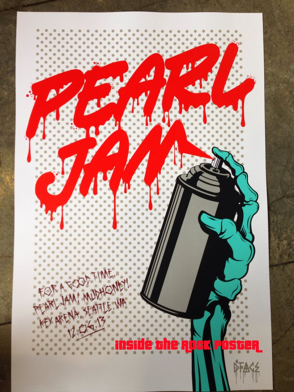 Image result for pearl jam seattle spray can poster
