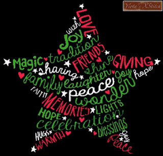 Christmas star word cross stitch kit