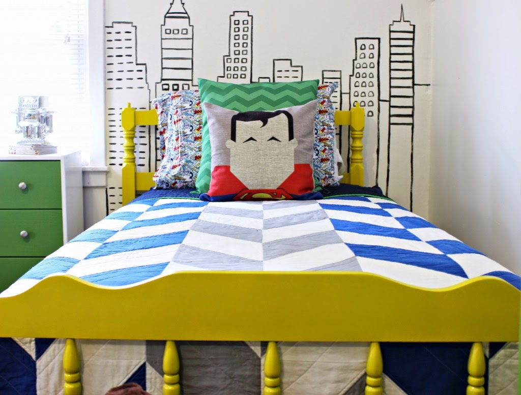 dicas incríveis para decoração de quarto de meninos - quarto super herói