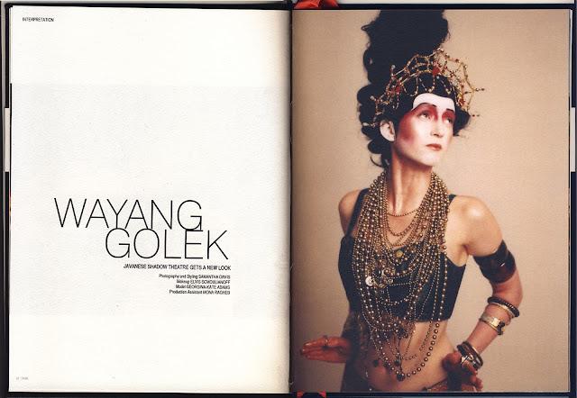SAMANTHA DAVIS, Kylie-Elvis Schmoulianoff, Wayang Golek, indonesian shaddow puppets, Tribe magazine