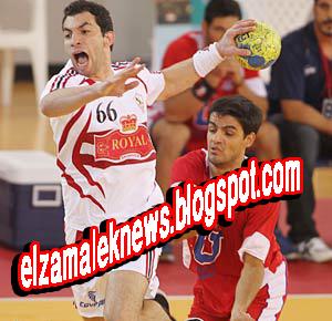 أحمد الأحمر لاعب نادي الزمالك لكرة اليد