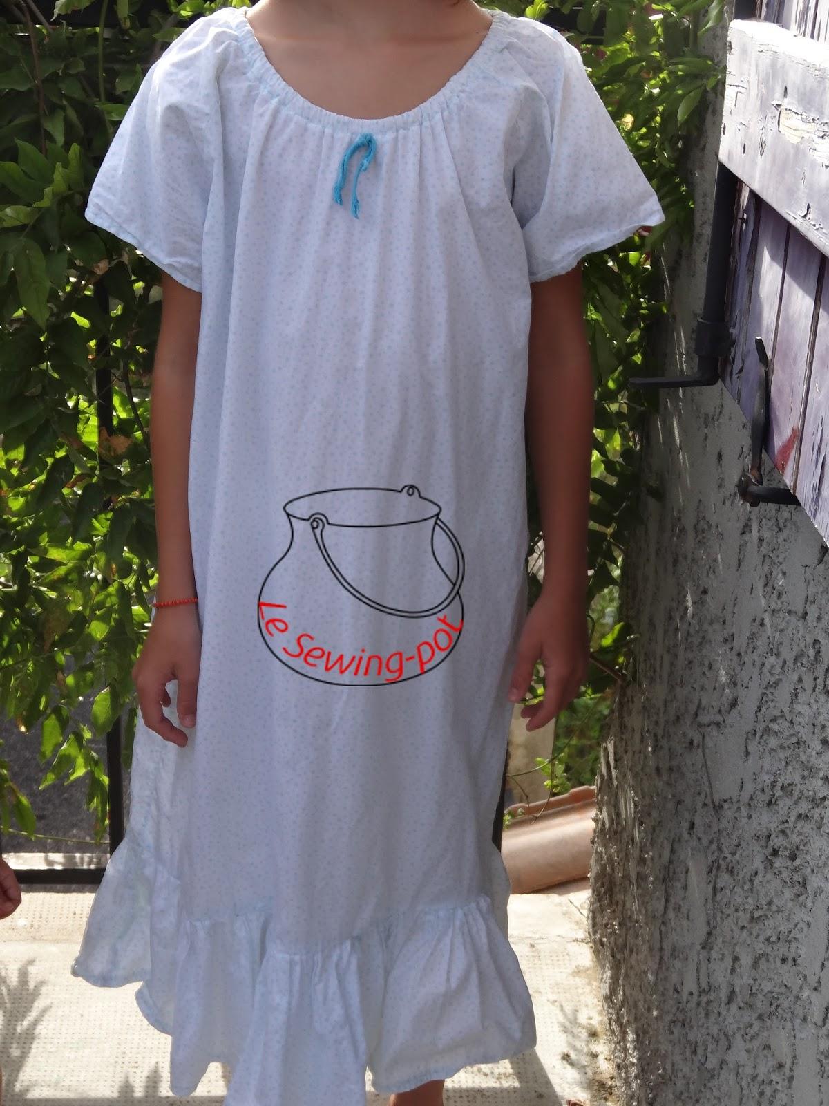 chemise de nuit été coton étoiles light nightgown for summertime