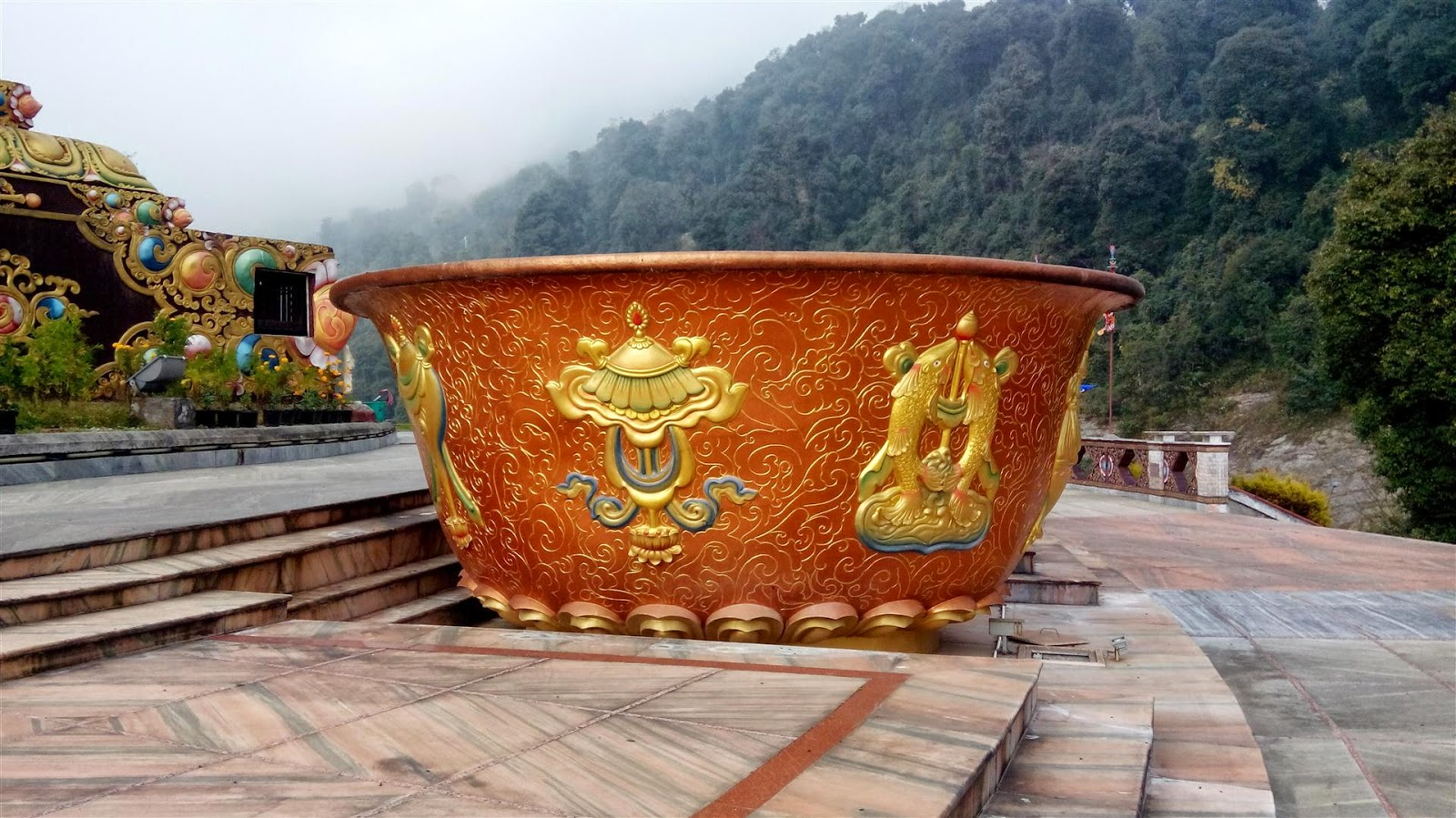 Cup of water at Buddha Park, Ravangla