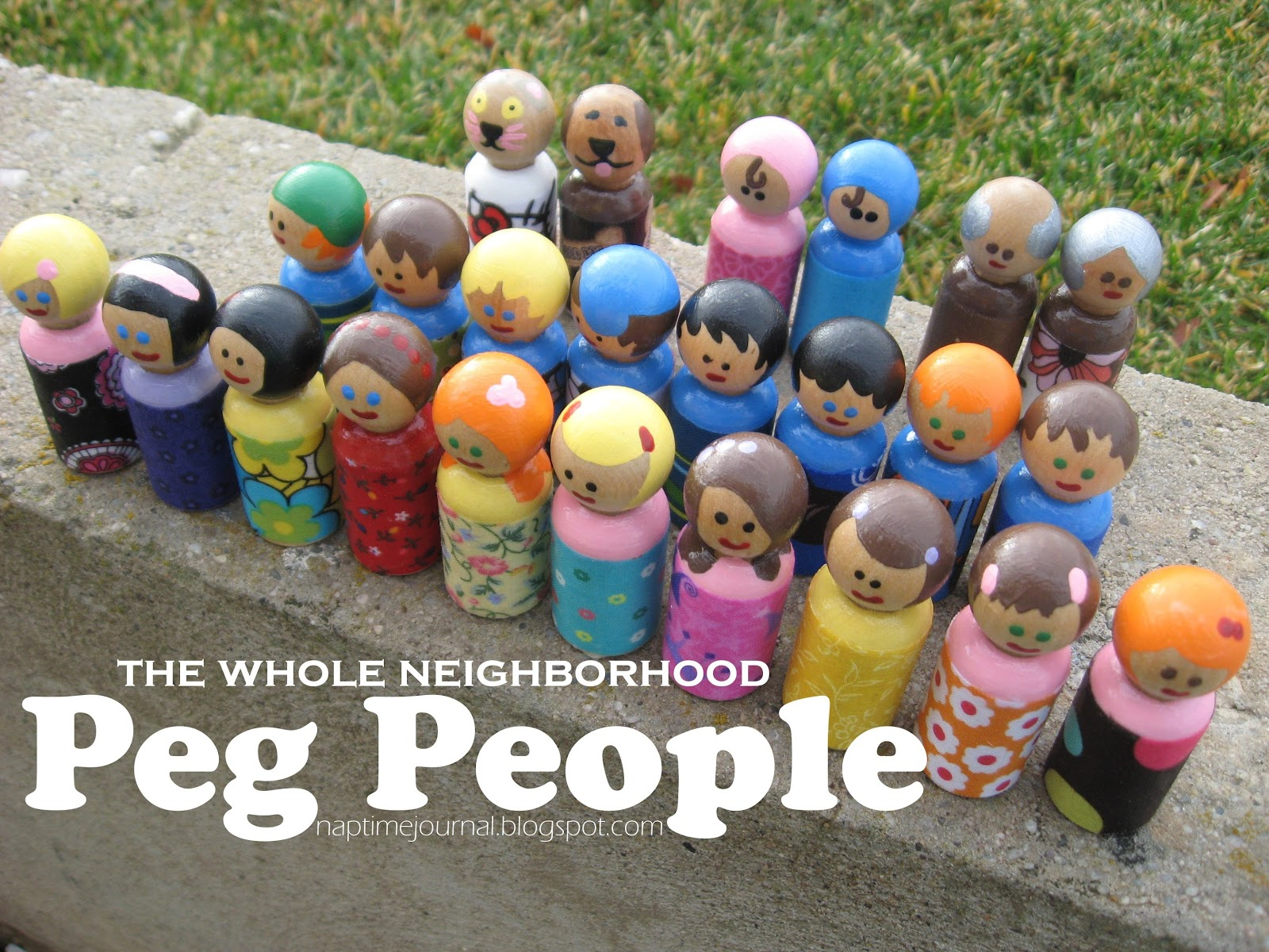 Nap Time Journal: A Neighborhood of PEG PEOPLE: A Homemade Christmas