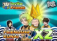 Ninja Saga Info - friendship Kunai 2x