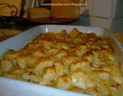 gnocchi di patate ai 3 formaggi al forno