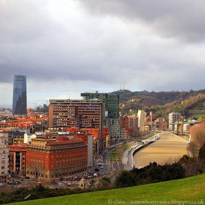 a view of Bilbao city, Spain