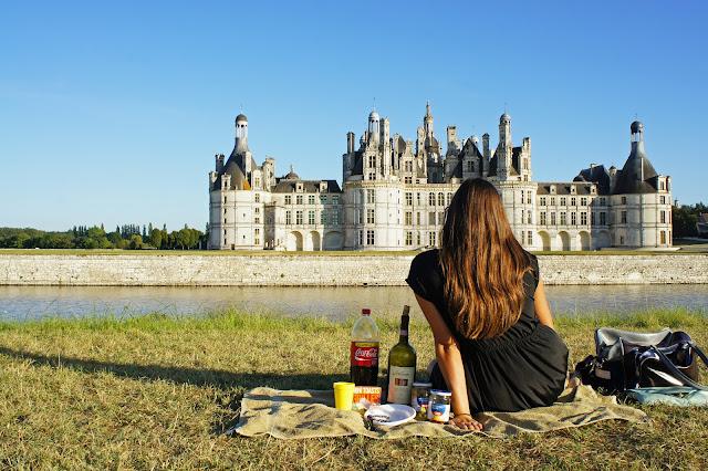 chateau chambord, france, picnic