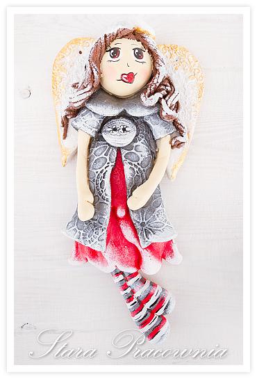figurki ozdoby z masy solnej, salt dough, salt dough angel