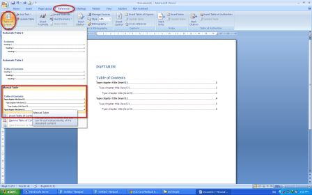 Cara Mudah Membuat Titik-Titik Untuk Daftar Isi di Microsoft Word 2007 dan Word 2010 tahap kedua