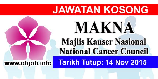 Jawatan Kerja Kosong Majlis Kanser Nasional (MAKNA) logo www.ohjob.info november 2015
