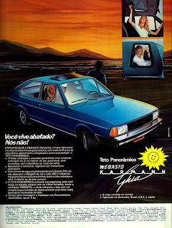 propaganda teto solar Webasto - Karmann Ghia - 1979