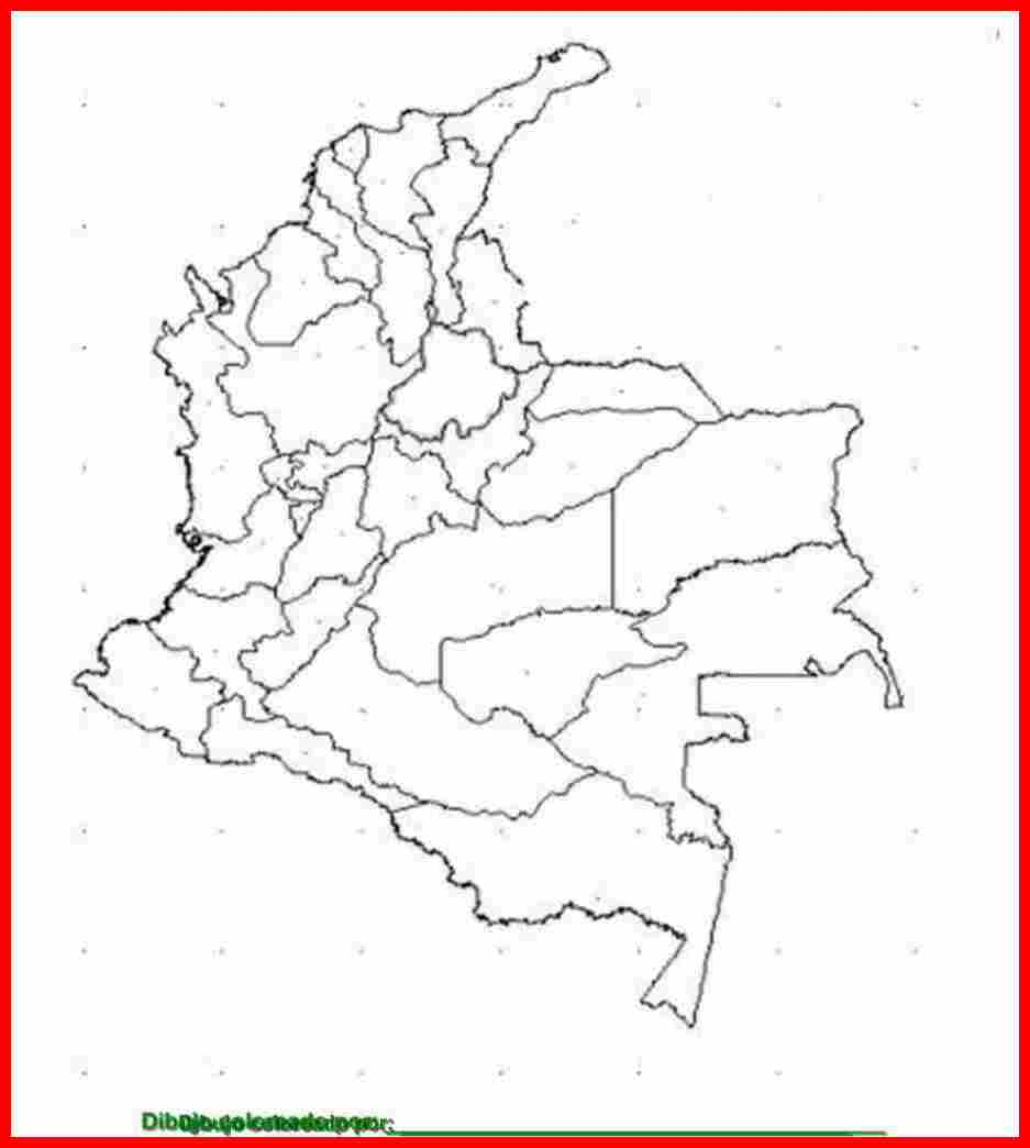 Croquis De Colombia Para Imprimir Mapa