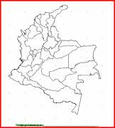 Mapa y bandera de Colombia para dibujar pintar colorear imprimir recortar y . (colombia )